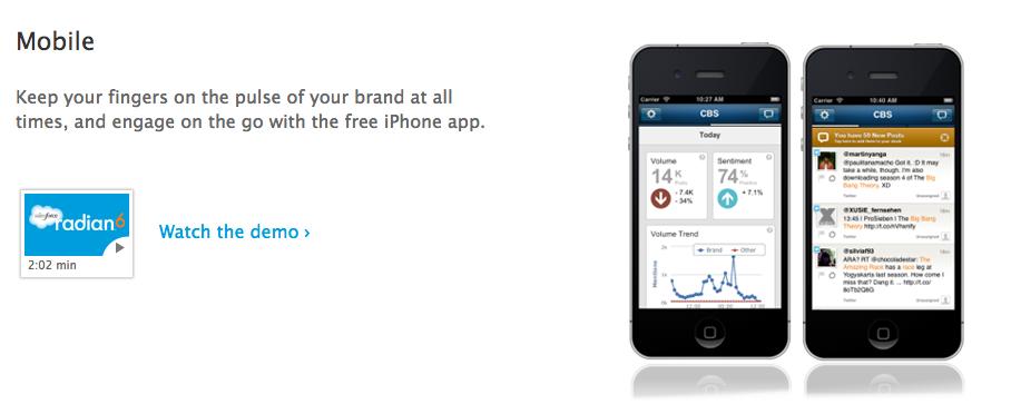 salesforce radian 6 mobile
