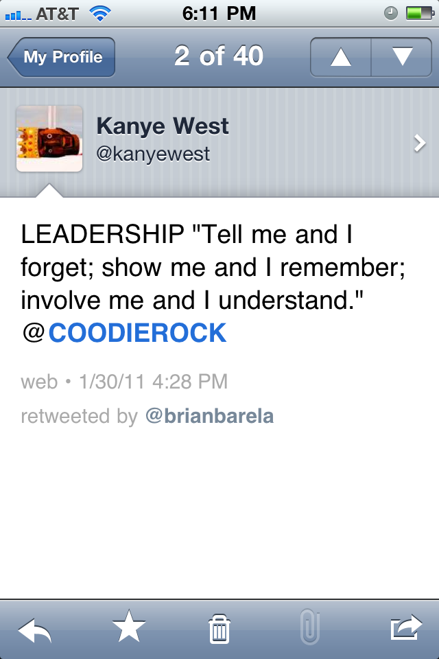 Kanye West Leadership Tweet